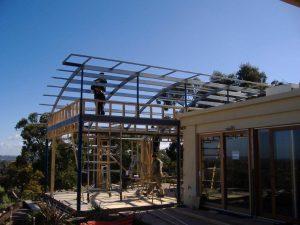 steel frame, erect steel frame