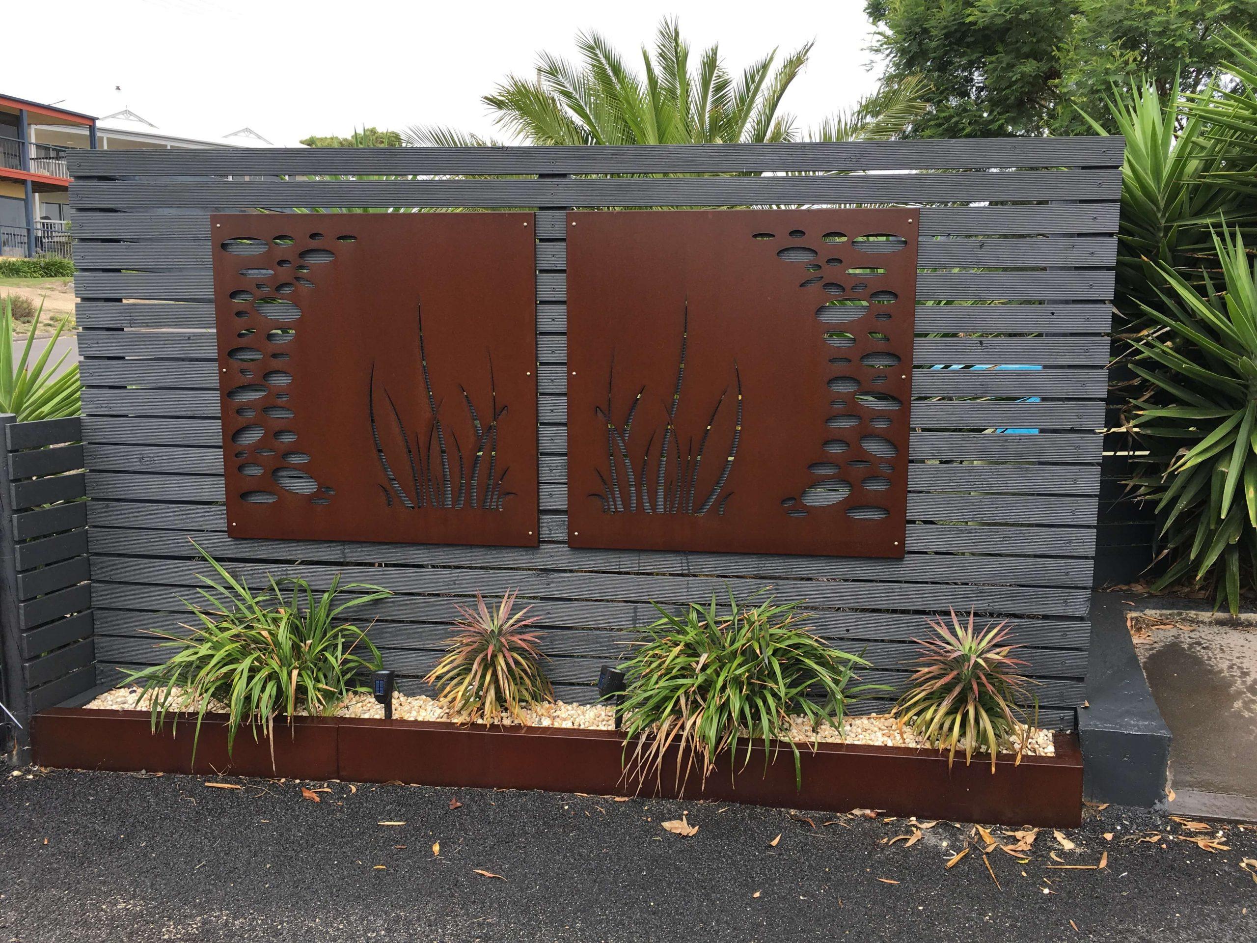 corten garden edging, weathering steel edging