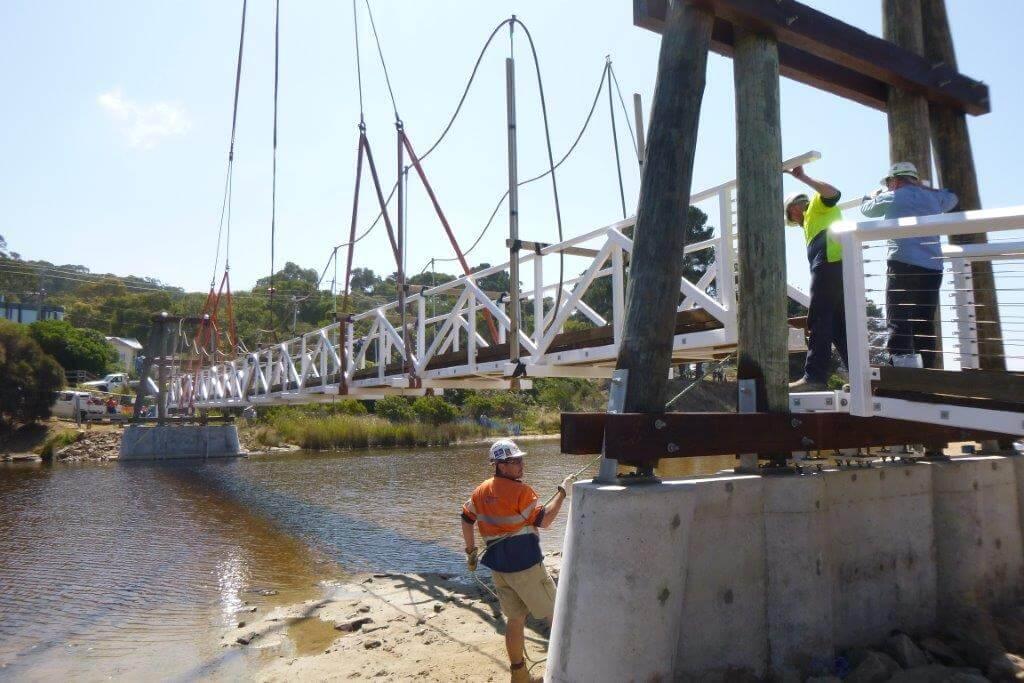 Lorne Bridge Install