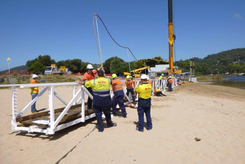 Lorne Bridge install