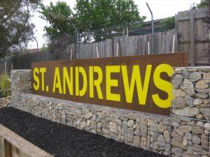 St Andrews Corten Screen 1