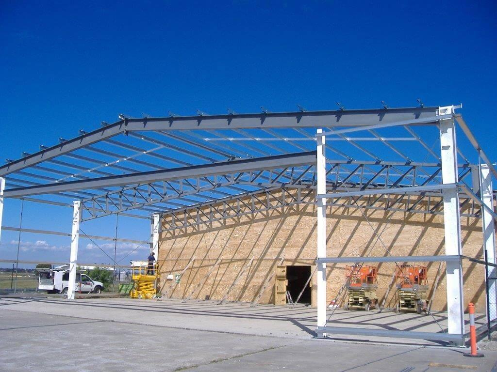 Airport Hanger - New structural steel, structure, steel structure install, build steel frames, erect steel frame