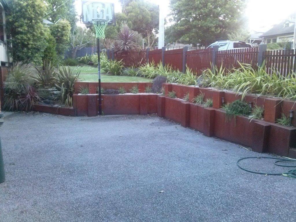 corten steel planter, corten for garden, corten edge, corten walkway
