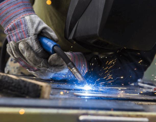 mig, mig welding steel plate