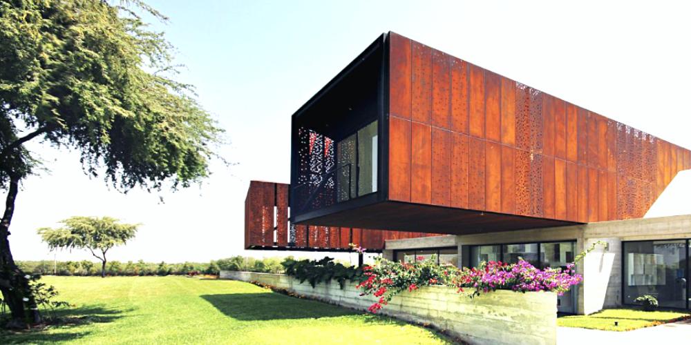 Corten architectural cladding