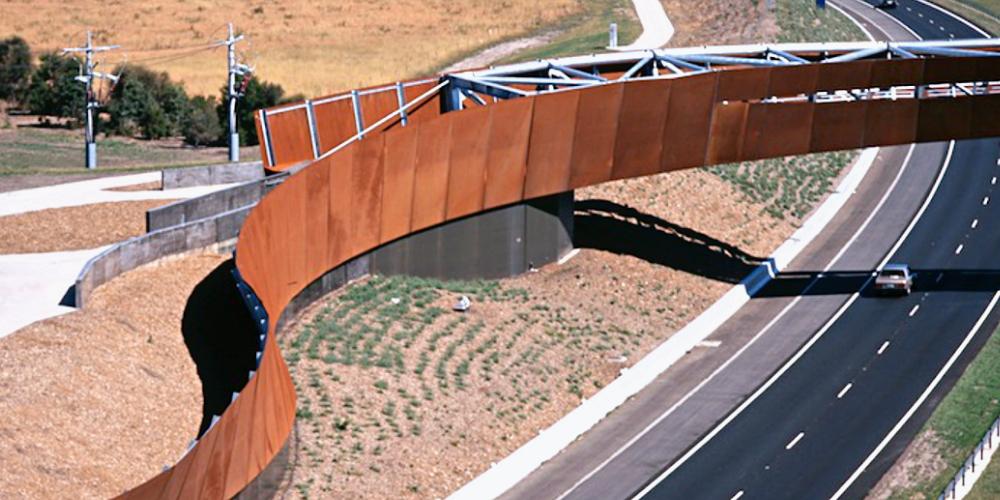 corten steel bridge