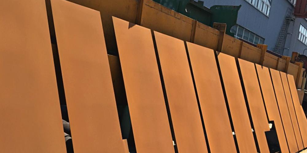 corten steel panel